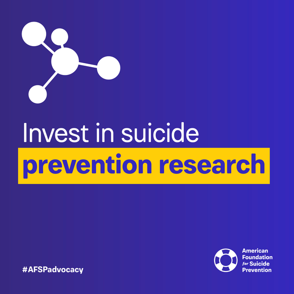 Invest in suicide prevention research