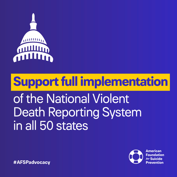 Support full implementation of the National Violent Death Reporting System in all 50 states