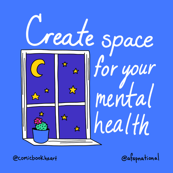 Create a space for your mental health