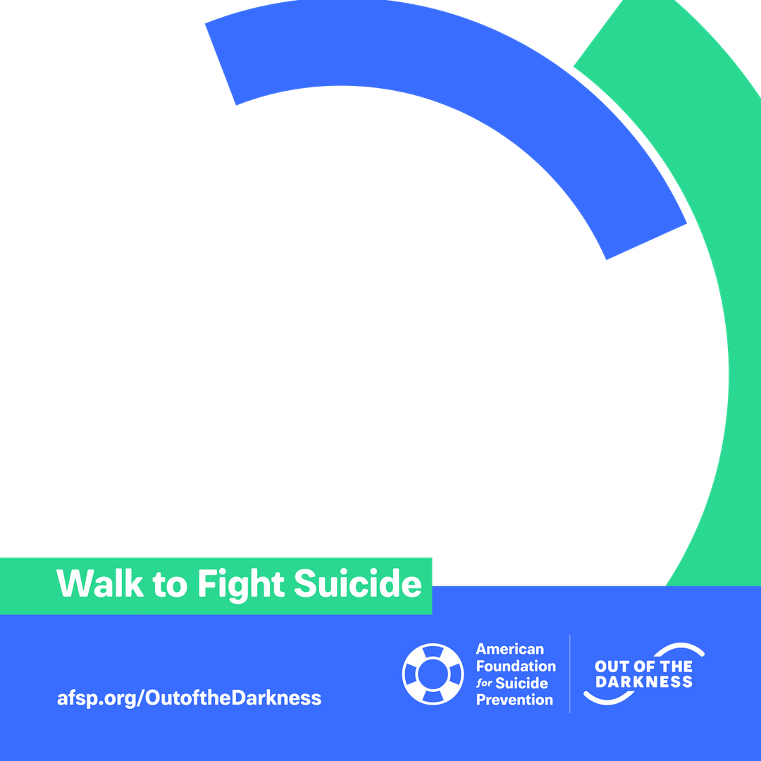 Walk to fight suicide custom shareable