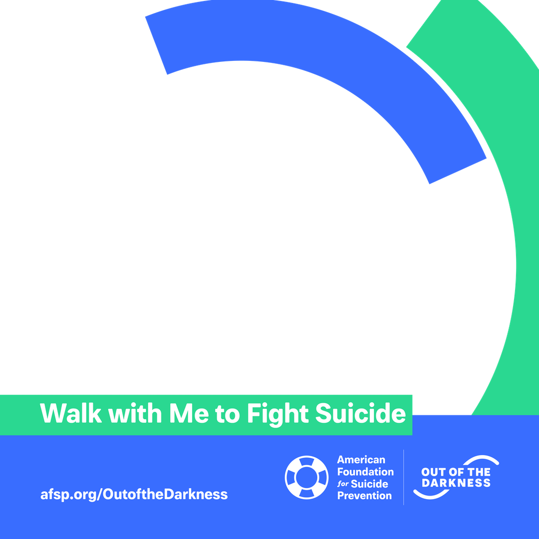 Walk with me to fight suicide custom shareable