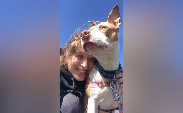 Tara with dog