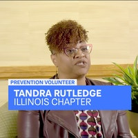 Tandra Rutledge speaking during an interview
