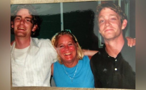 Mary Jean Coleman with two sons