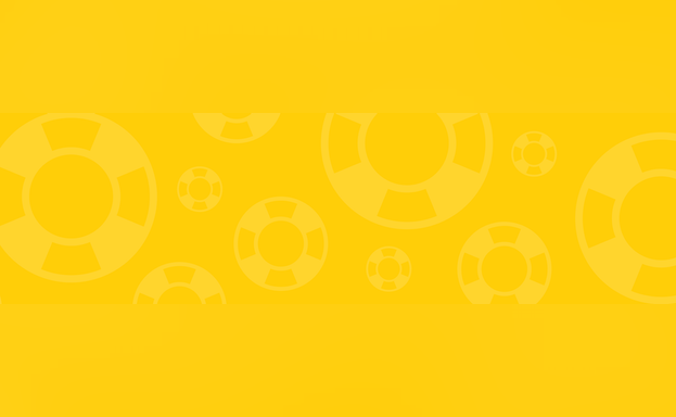 Yellow banner with lifesavers