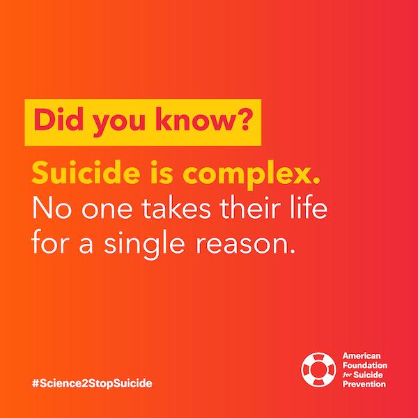 Suicide is complex