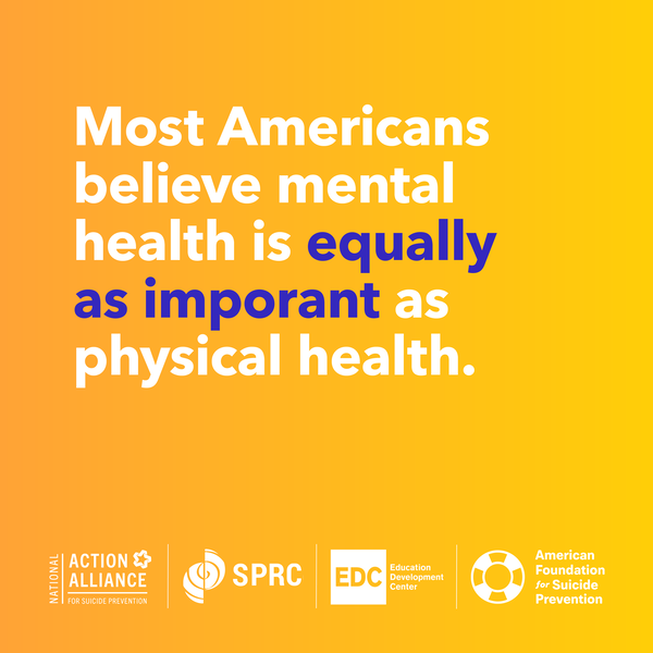 Most americans believe mental health is equally as important as physical health