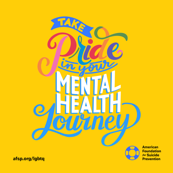 Take pride in your mental health journey