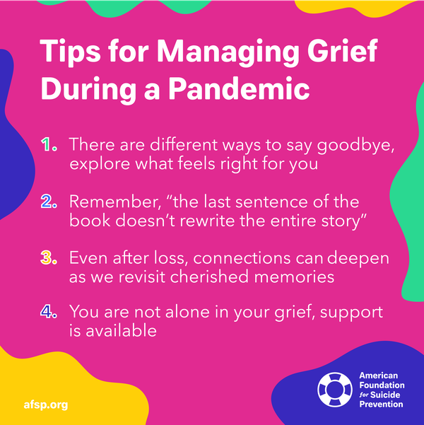 Tips for managing grief during a pandemic