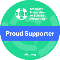 AFSP green proud supporter badge