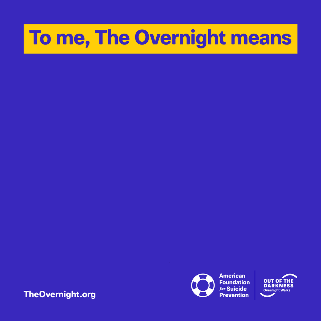 Overnight custom graphic: To me, The Overnight means