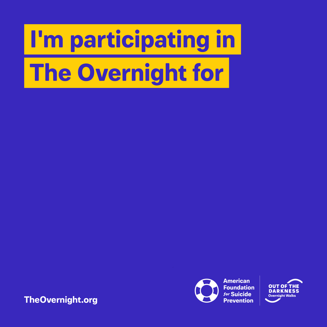 Overnight custom graphic: I'm participating in The Overnight for