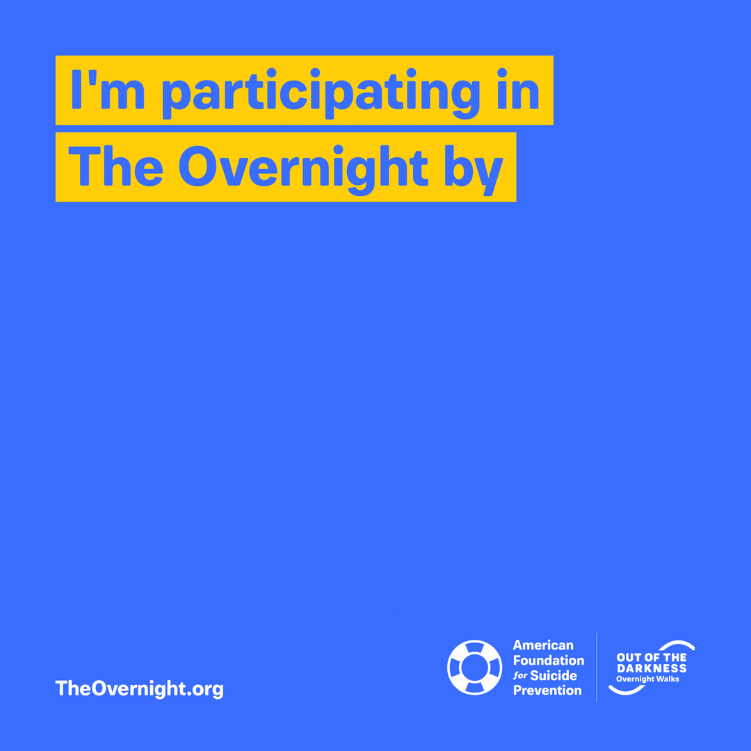 Overnight custom graphic: I'm participating in The Overnight by