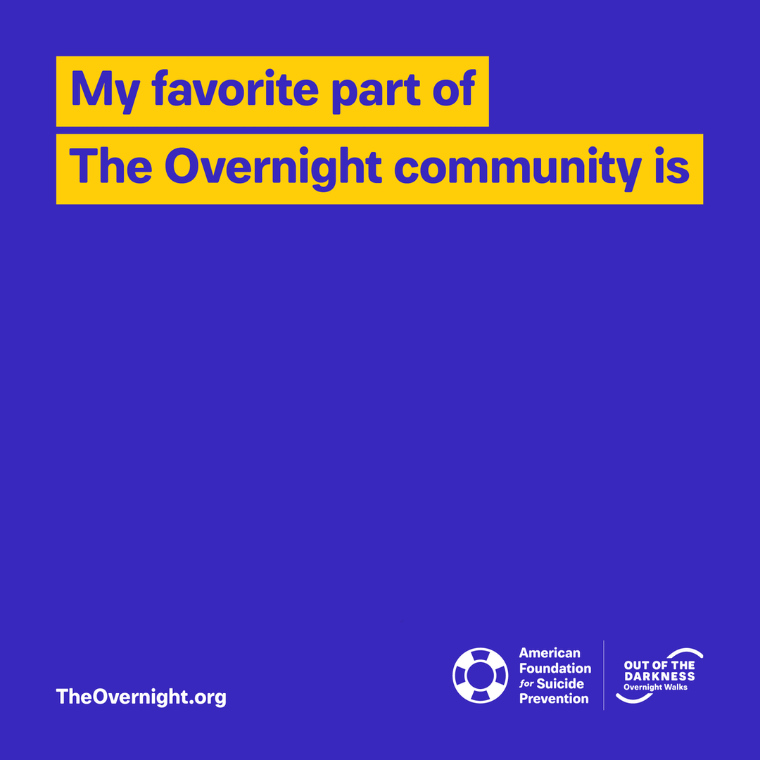 Overnight custom graphic: My favorite part of The Overnight community is