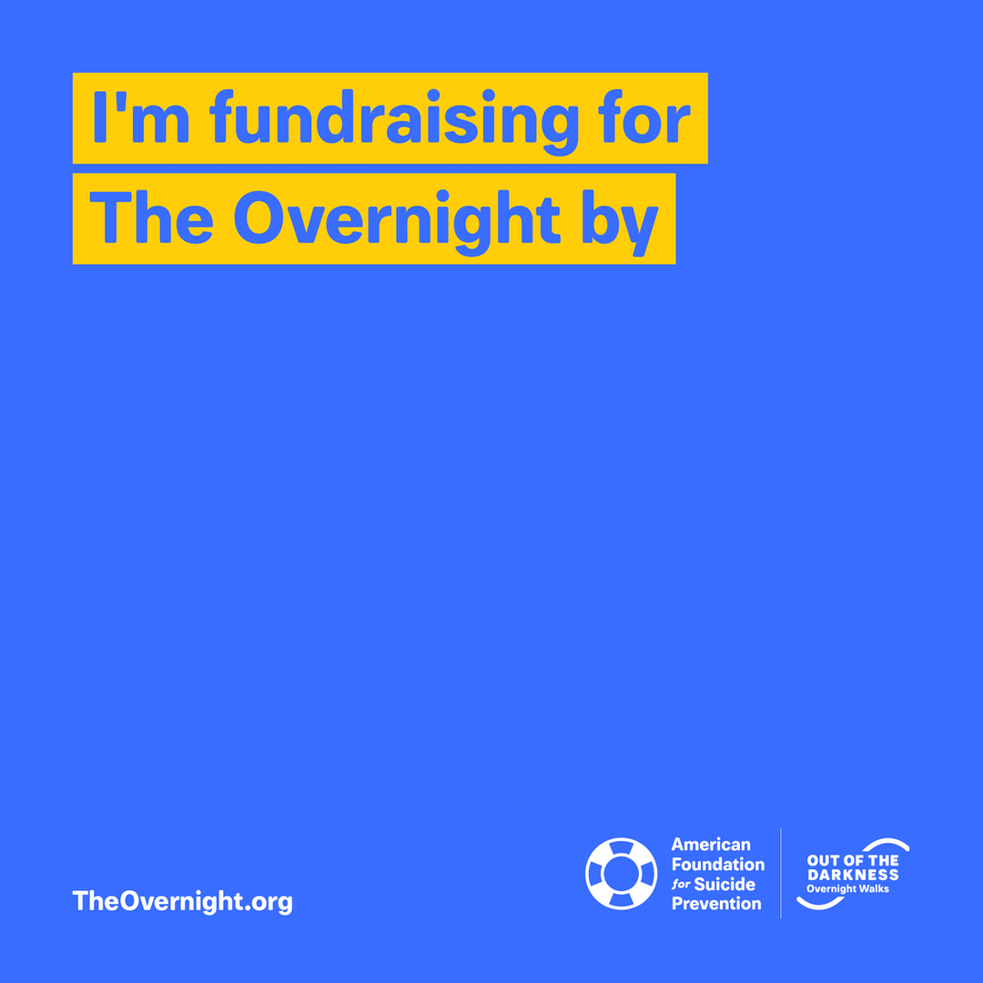 Overnight custom graphic: I'm fundraising for The Overnight by