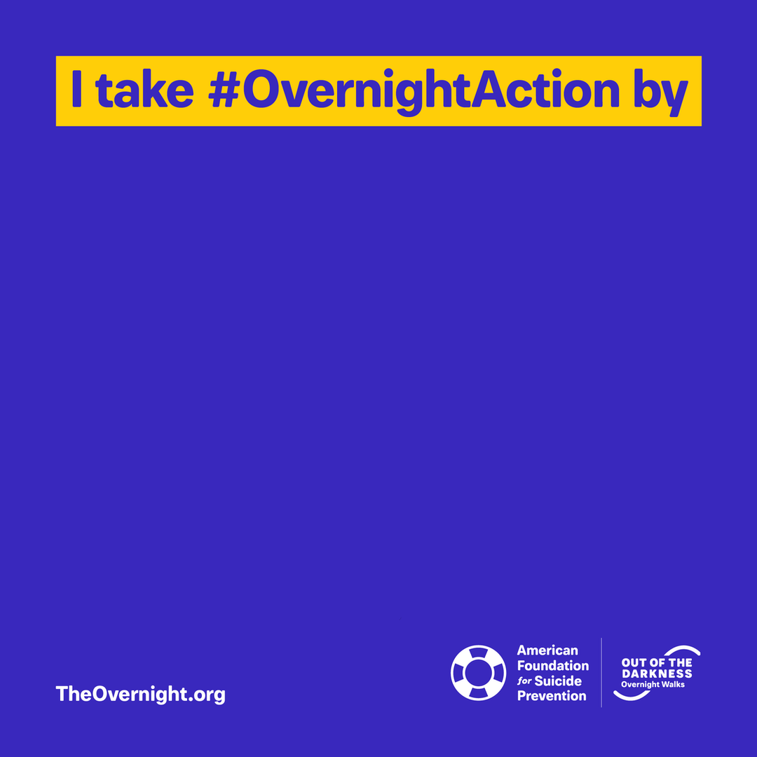Overnight custom graphic: I take #OvernightAction by