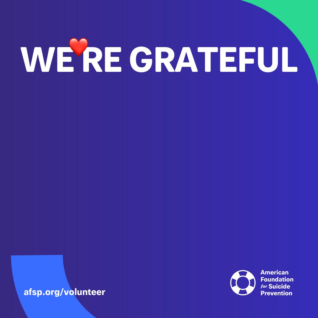 Customize We're Grateful message