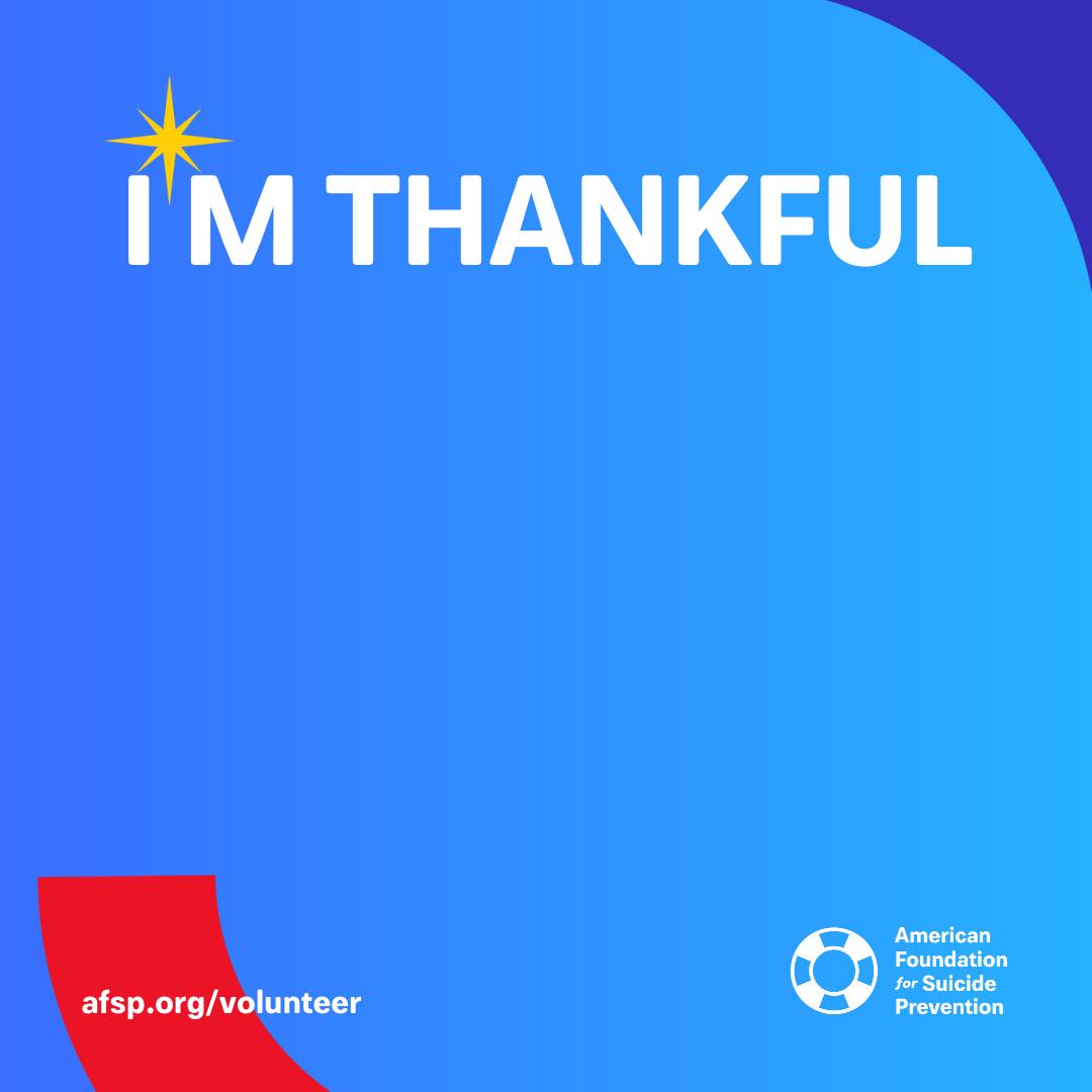 Customize I'm Thankful message