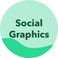 Social graphics button