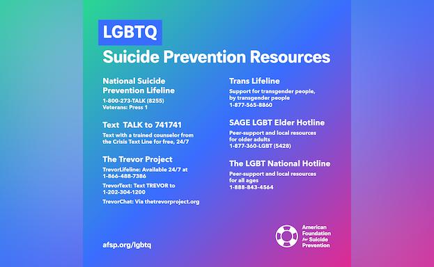 LGBTQ+ Suicide Prevention Resources