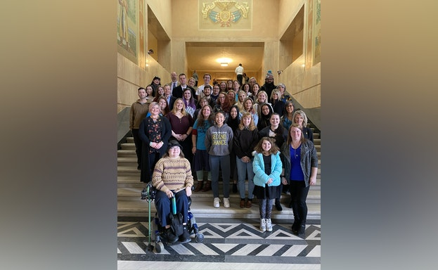 Group of volunteers at State Capitol Day