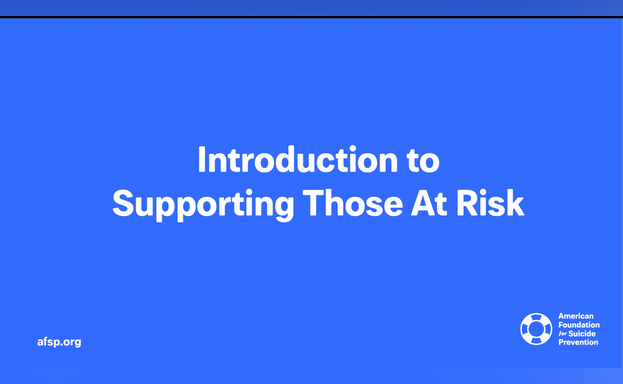 Introduction to Supporting Those At Risk