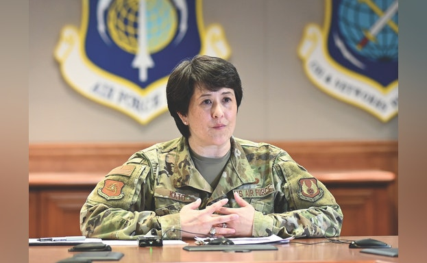 Soldier at table during briefing