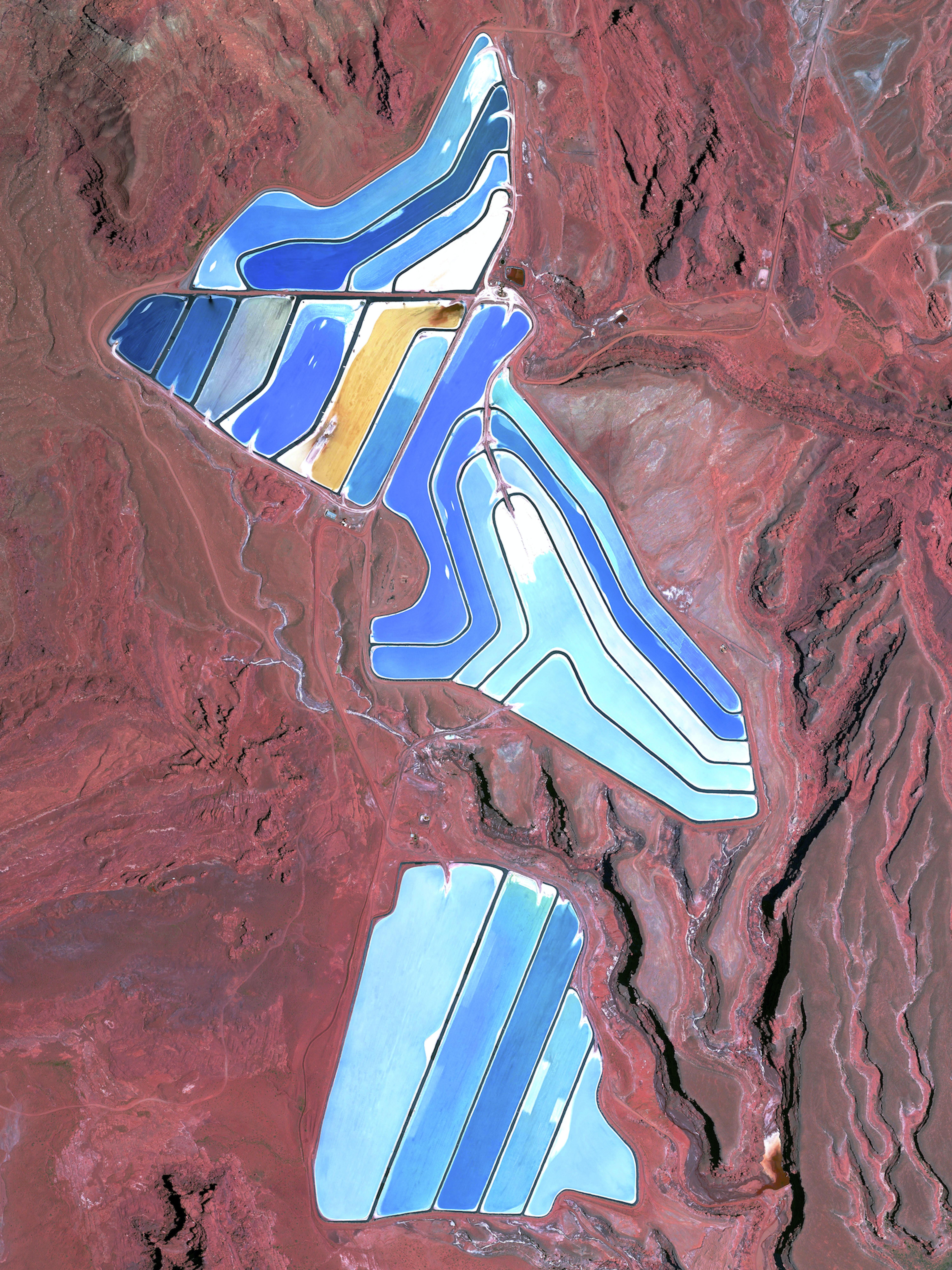 Moab Potash Evaportation Ponds