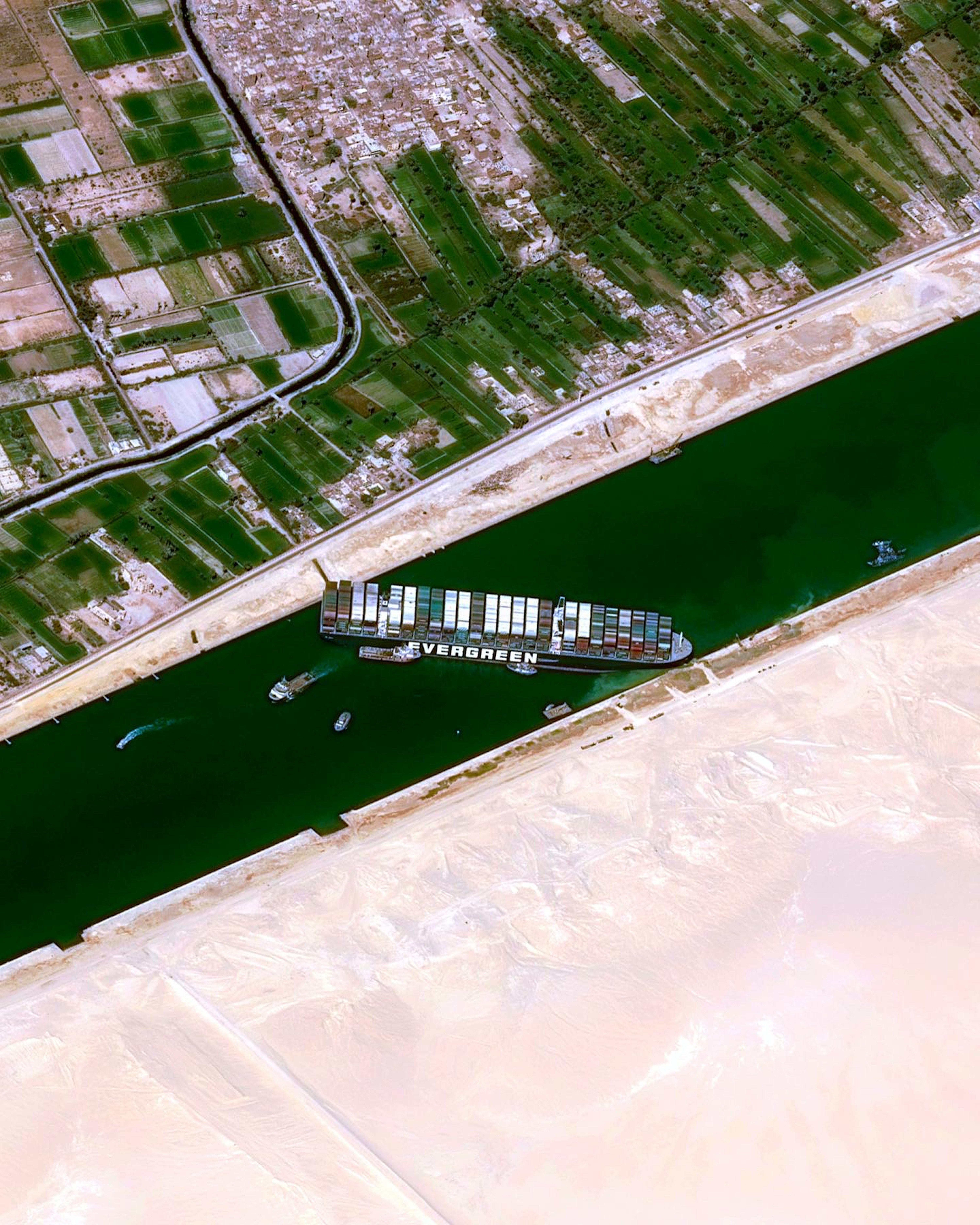 Ship Stuck in Suez