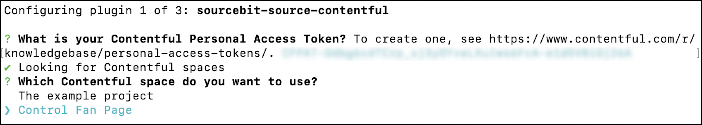 Contentful options