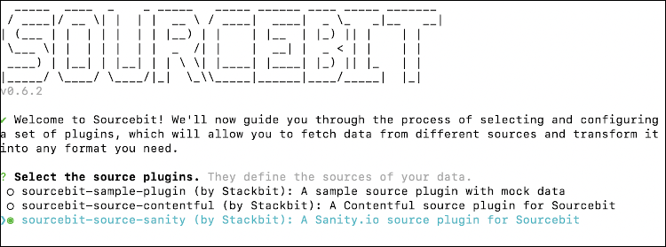configuring Sourcebit with Sanity