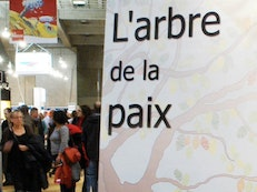 A Peace Tree at the Montreal Book Fair