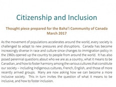 """New """"thought pieces"""" prepared on inclusion and reconciliation"""