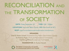 Baha'i community co-sponsors Vancouver public event on reconciliation and the transformation of society