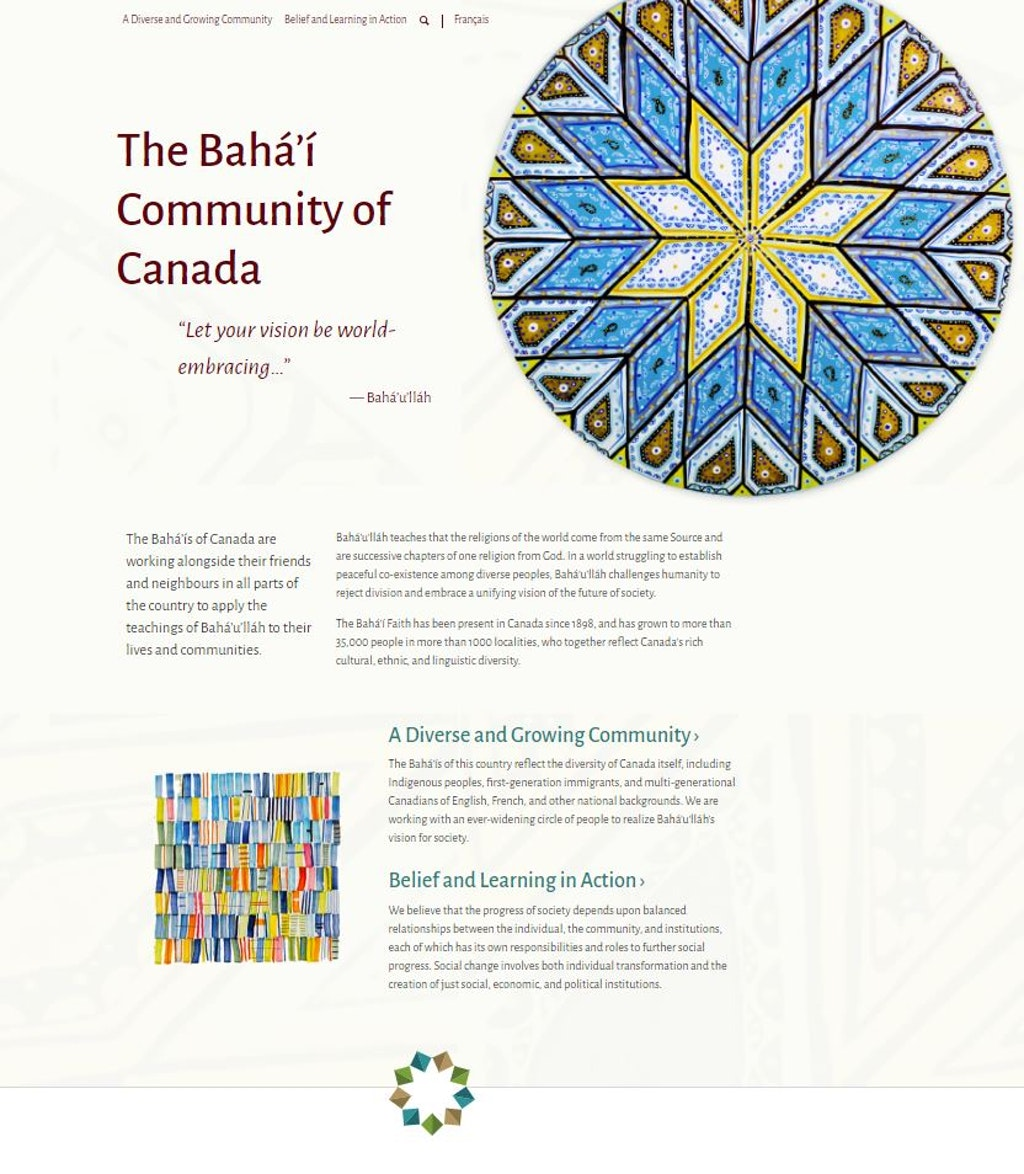 New website launched for the Baha'i community of Canada