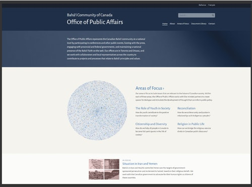 Office of Public Affairs launches new website