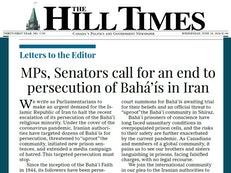 Canadian Parliamentarians address open letter calling for Iran to halt persecution of Baha'is