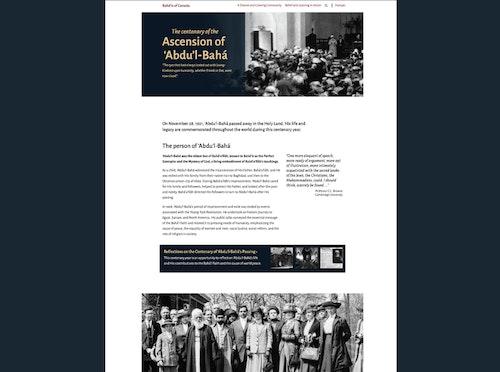 Les bahá'ís se préparent à commémorer le centenaire du décès de 'Abdu'l-Bahá