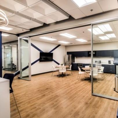 telescoping glass doors meeting room