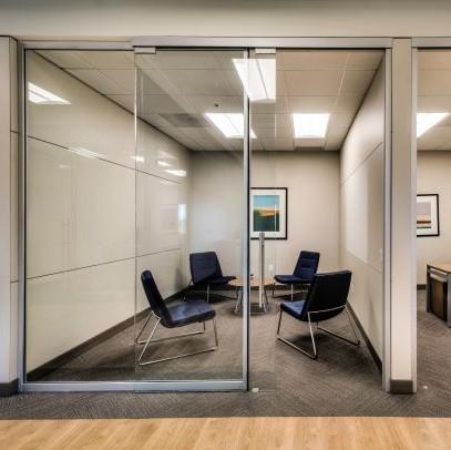 glass walls solid walls meeting room