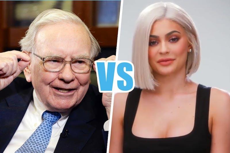 warren buffet en kylie jenner, beiden miljardair
