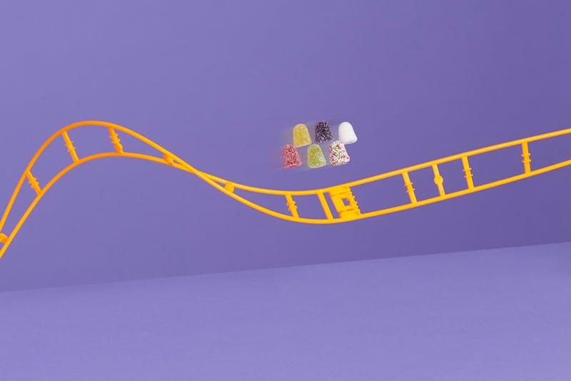 tumtummetjes op achtbaan