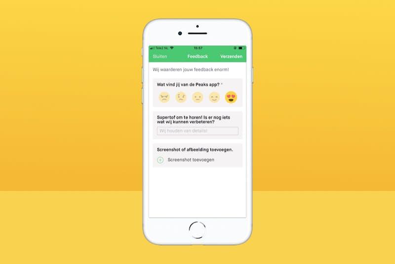 Peaks app: Feedback geven aan Peaks