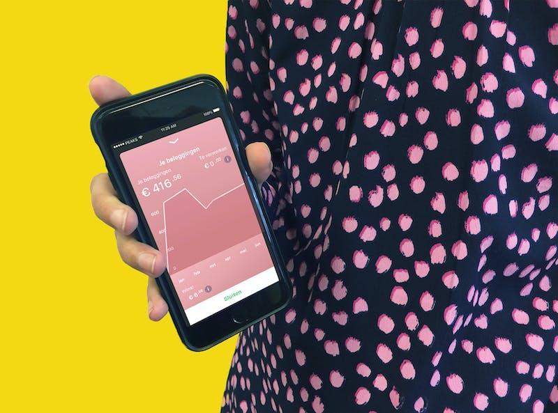 Een grafiek van je beleggingen in de Peaks app