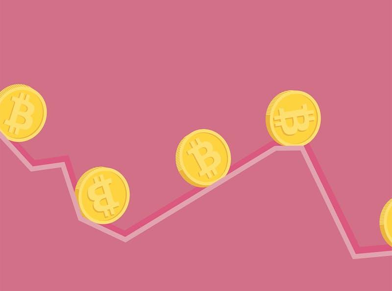 illustratie van de koers van bitcoin