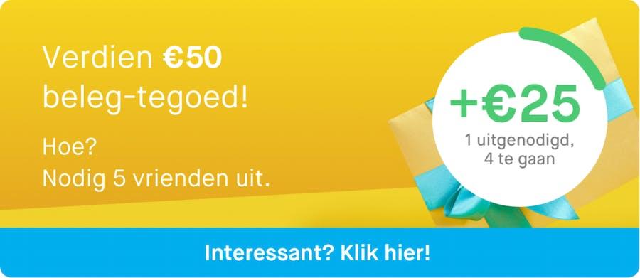 Verdien €50 beleg-tegoed
