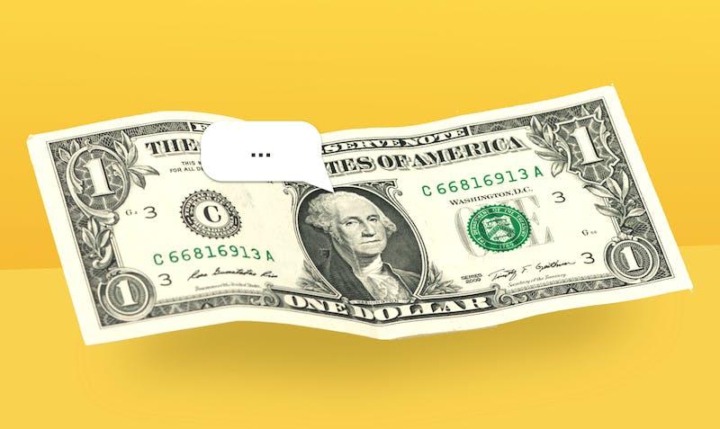 Dollar-Geldschein zum Thema Geld und Finanzen