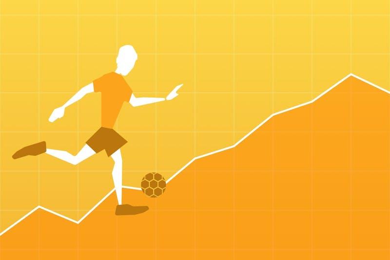 Starke Aufstellung beim Fußball und Investieren