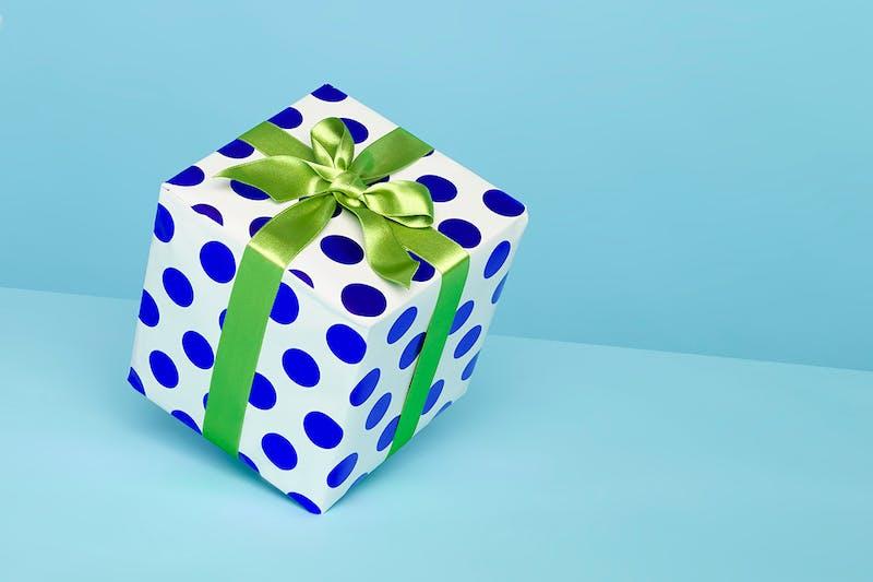 Ein Geschenk symbolisiert eine Dividende
