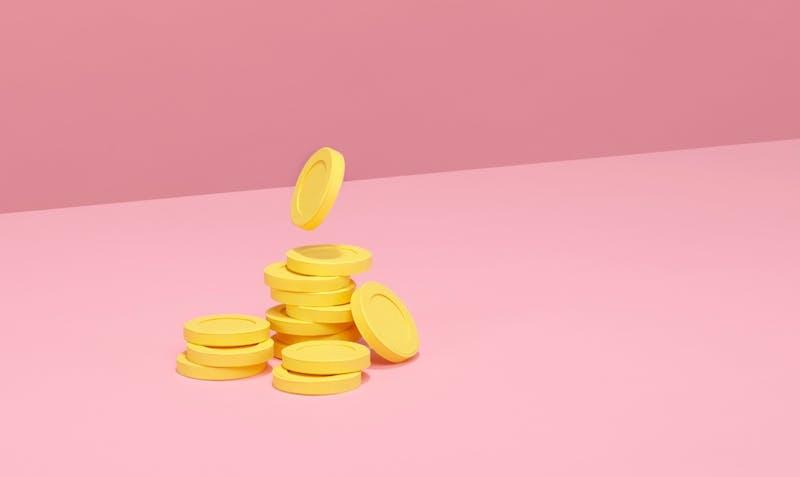 gelbe Münzen